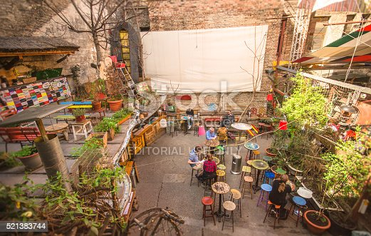 Eclectic Terrace Budapest Stock Photo & More Pictures of Alcohol