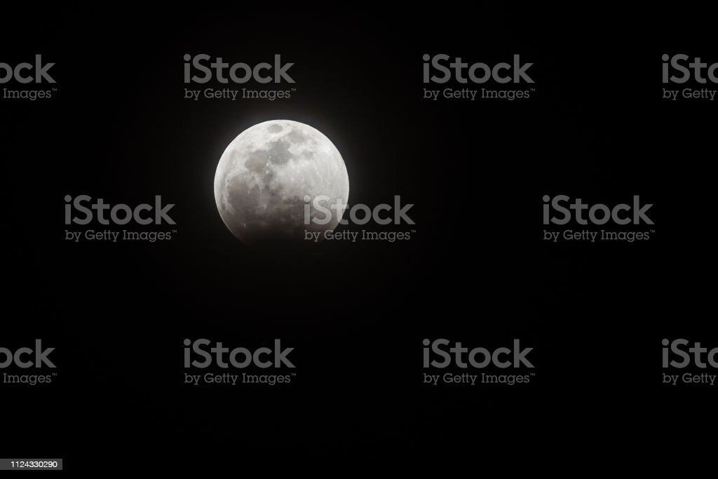 Moon eclipse and changing color to red.