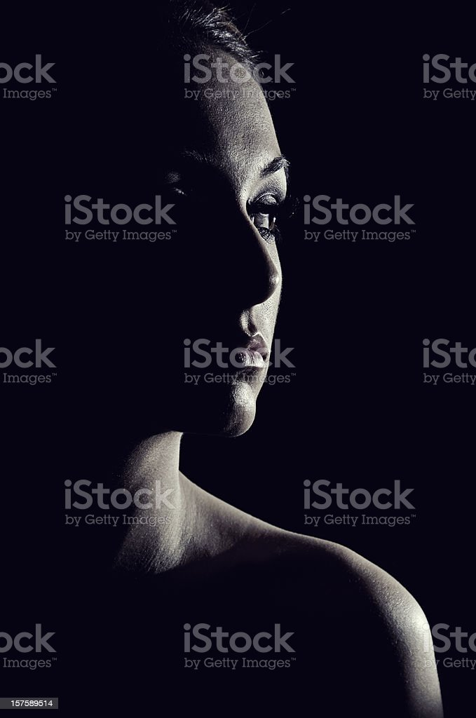 Eclipsed Female stock photo
