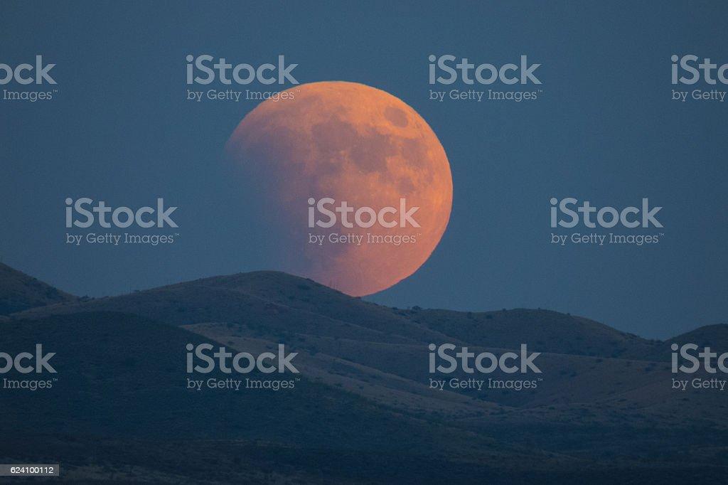 Eclipsing Moon stock photo
