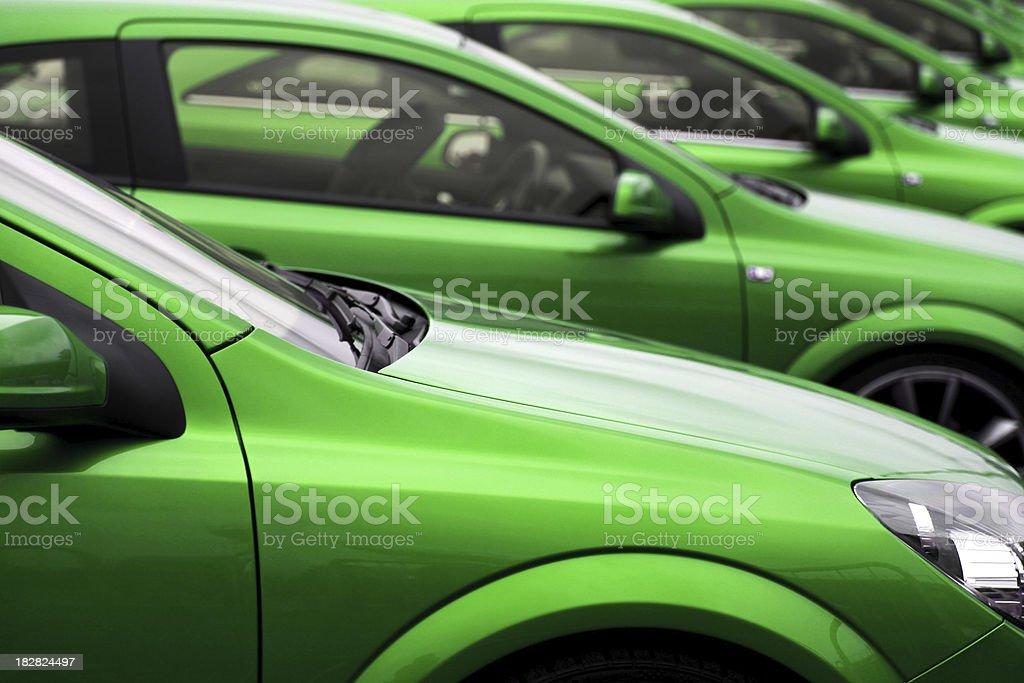 Eco cars stock photo