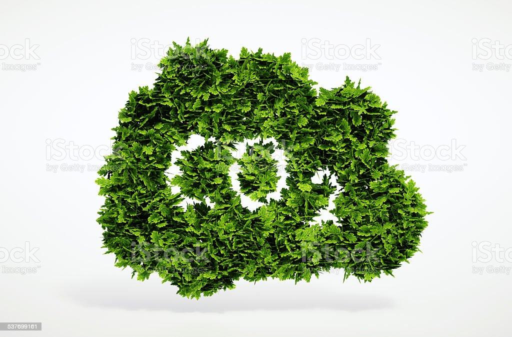 Eco CO2 symbol stock photo