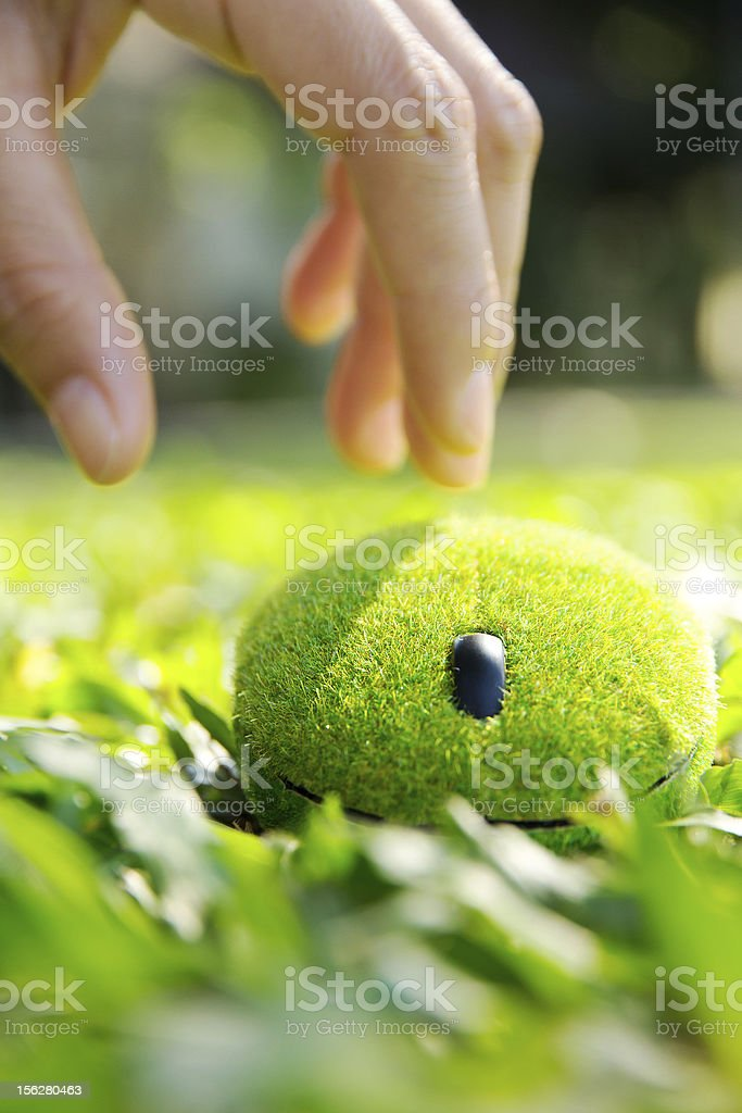 eco computer mouse royalty-free stock photo