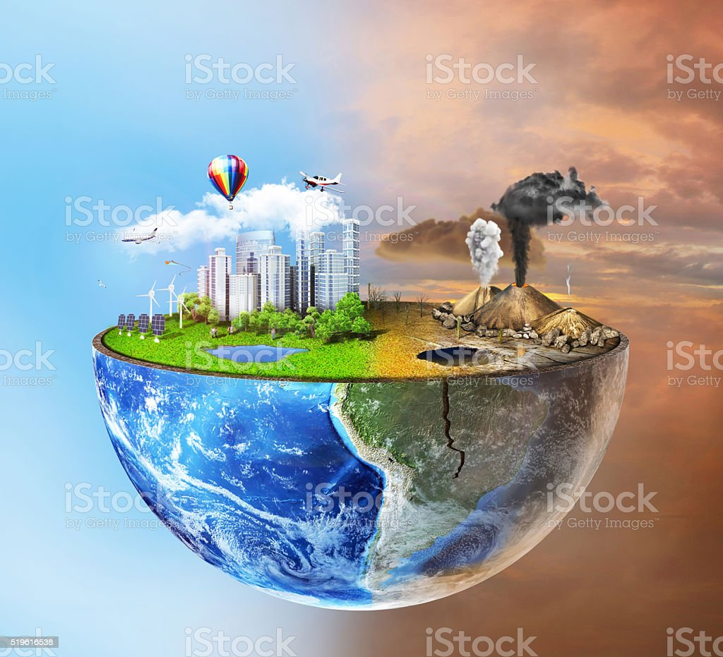 Eco concept. stock photo