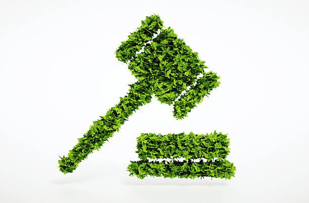 Eco court señal - foto de stock