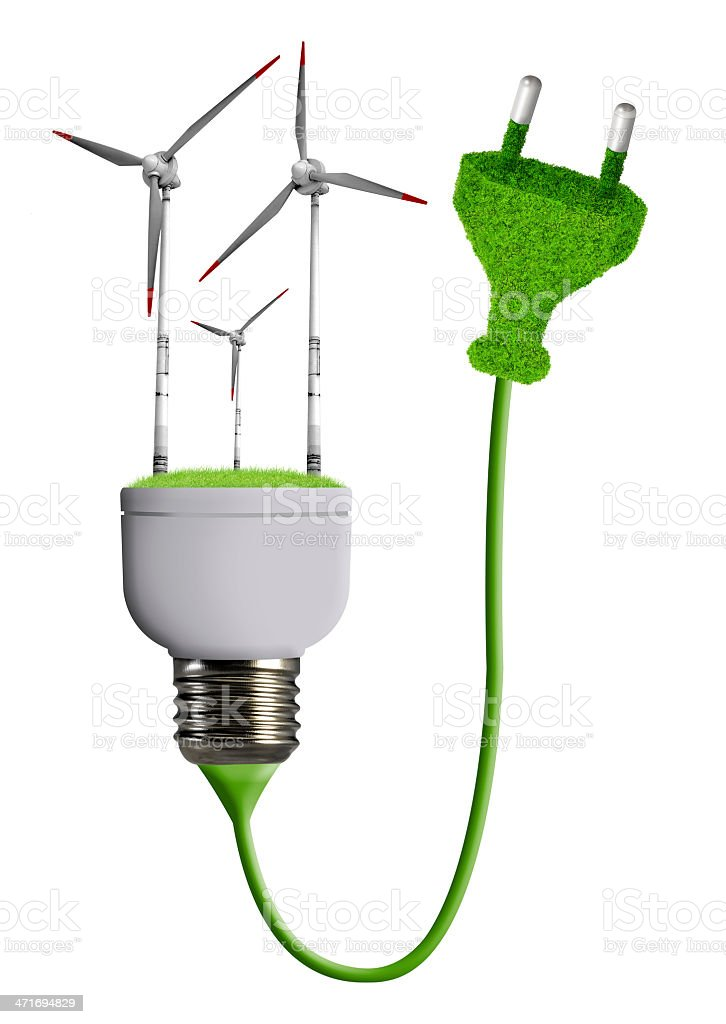 eco energy bulb royalty-free stock photo
