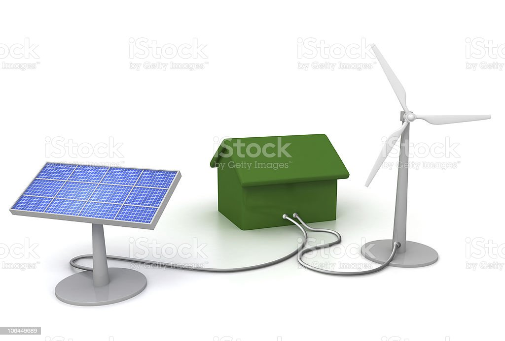 eco energy house royalty-free stock photo