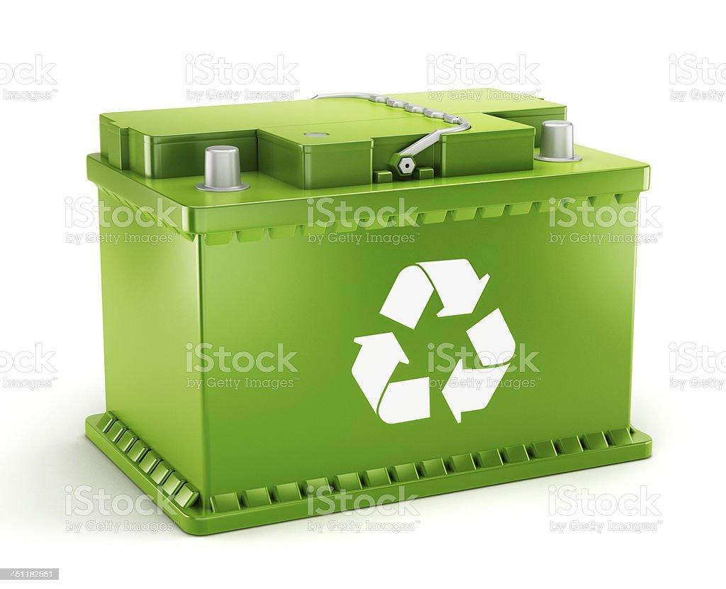 Eco friendly battery royalty-free stock photo