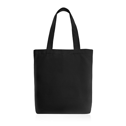 Reusable Bag for Groceries and Shopping. Design Template for Mock-up. Studio Shoot. Front View