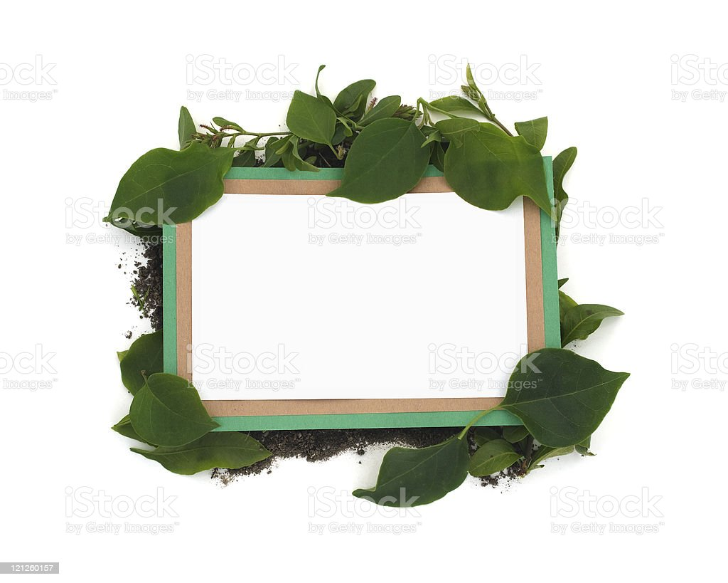 Eco Friendly Blank Message royalty-free stock photo