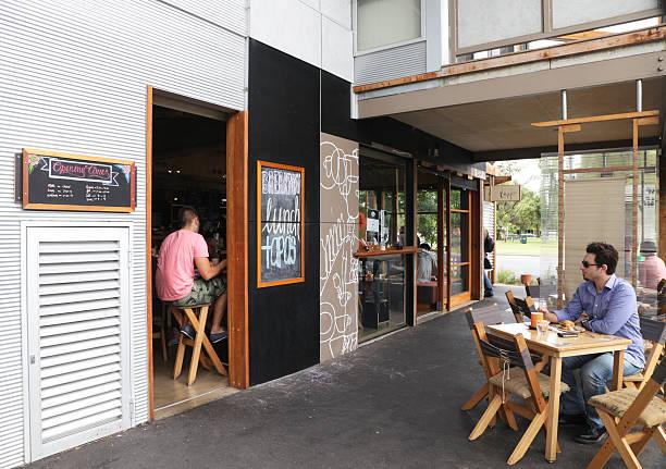 Eco Friendly Cafe stock photo