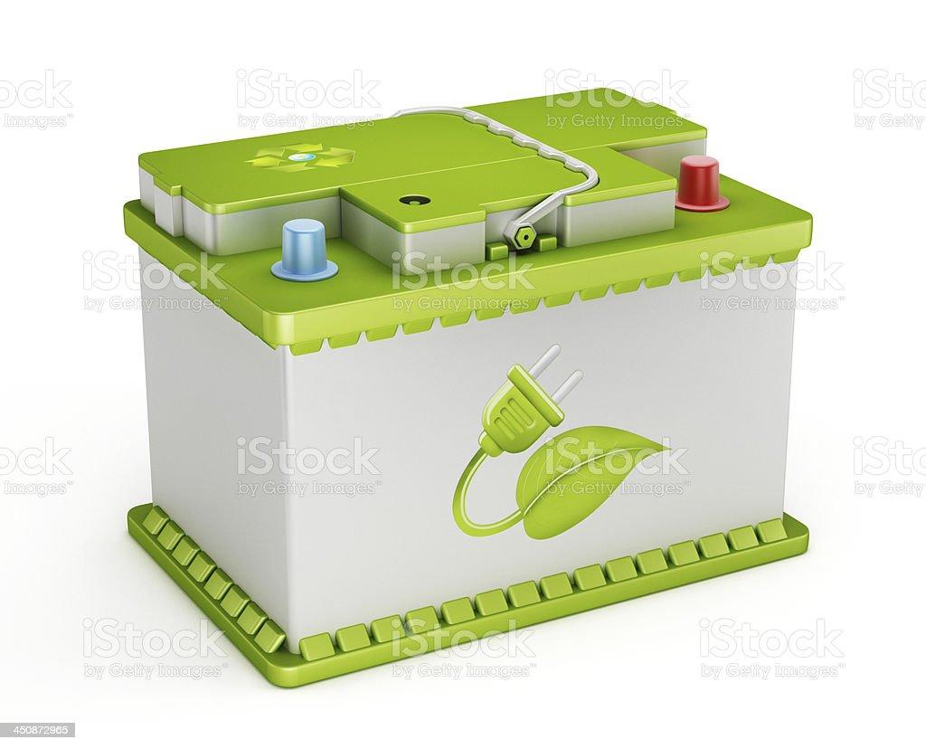 Eco friendly car battery royalty-free stock photo