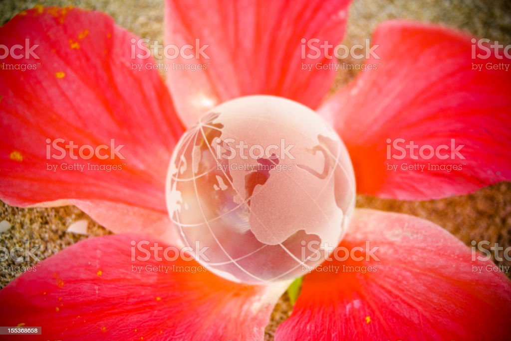 eco friendly global scale concept royalty-free stock photo