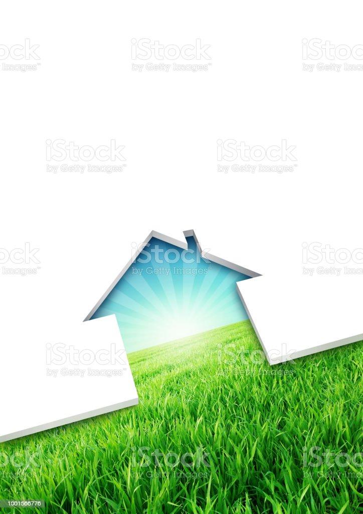 Concept maison écologique photo libre de droits