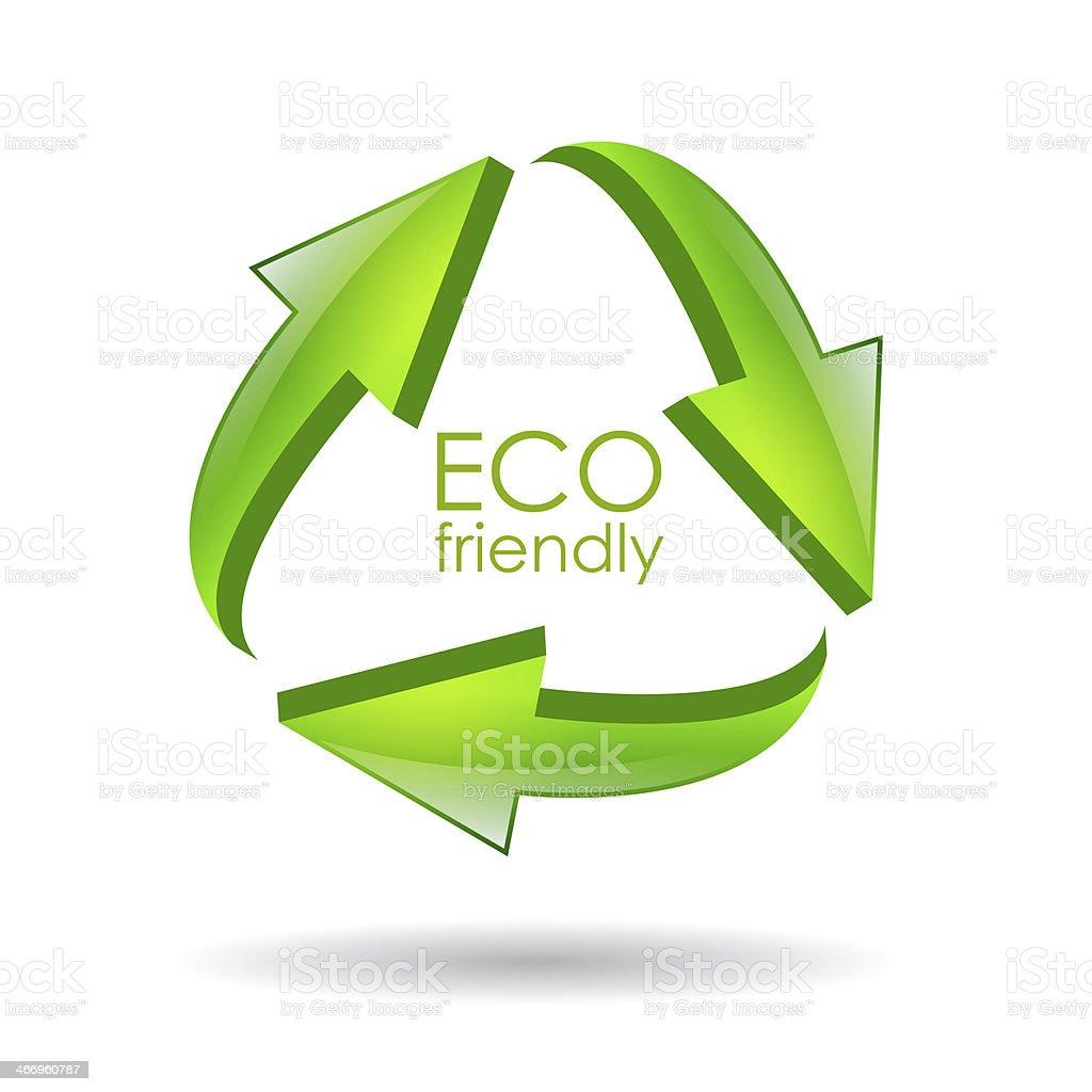Eco friendly icon royalty-free stock photo