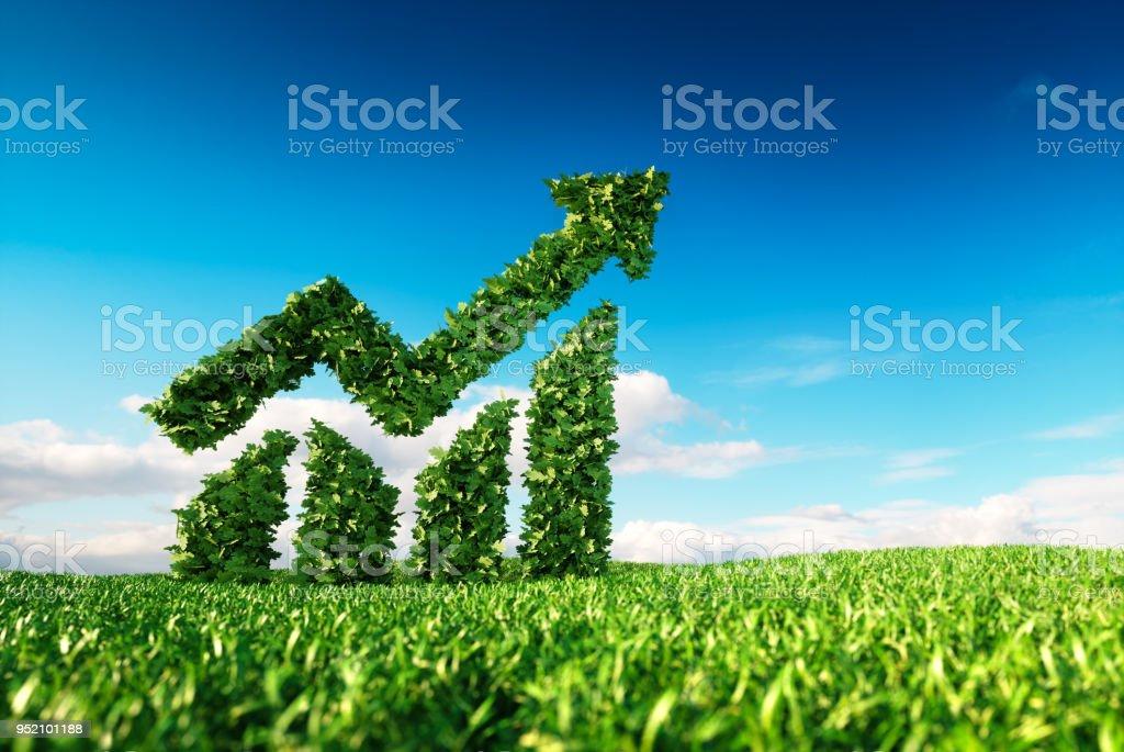 Eco-freundliche nachhaltiges Wachstum-Konzept. – Foto