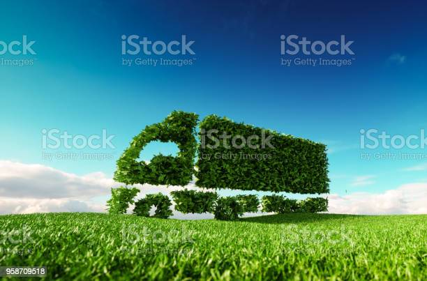 Eco friendly transportation concept 3d rendering of green green truck picture id958709518?b=1&k=6&m=958709518&s=612x612&h=cwohl58zazgsedxwoscuamprk6escvba5puu5vlu so=