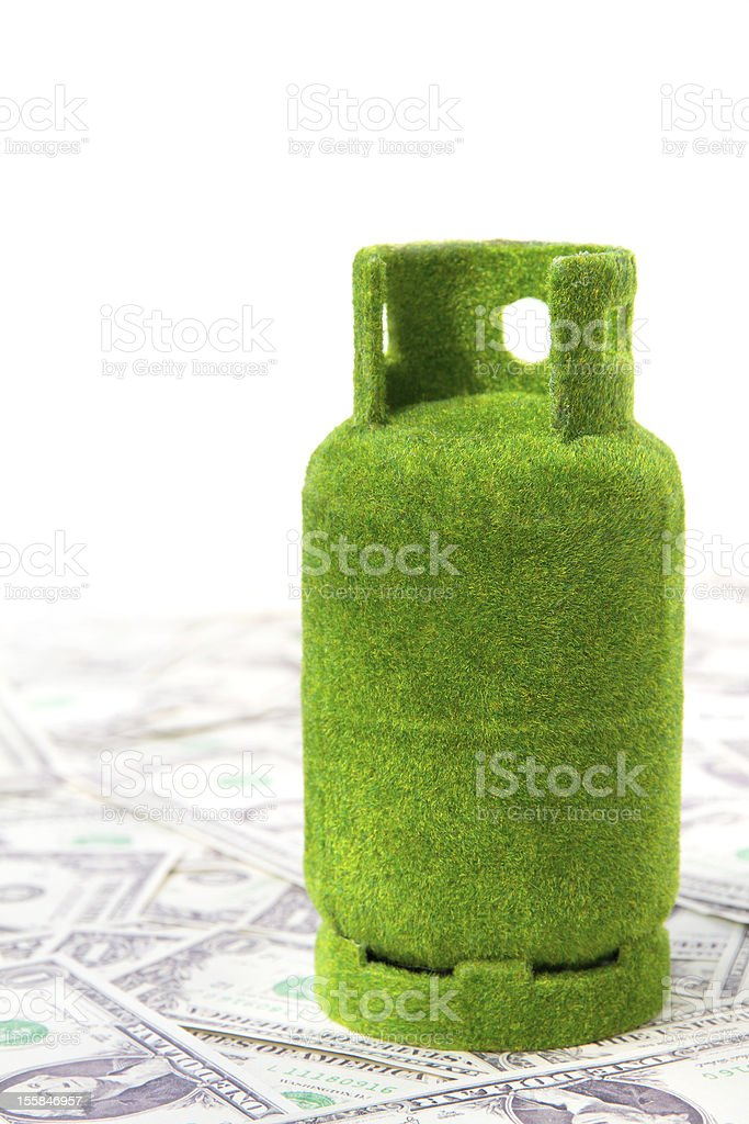 eco gas tank concept royalty-free stock photo