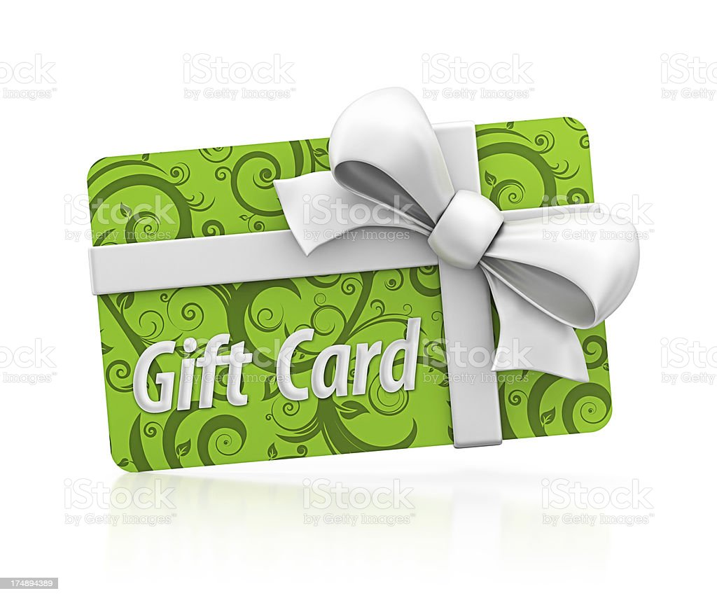 eco gift card stock photo