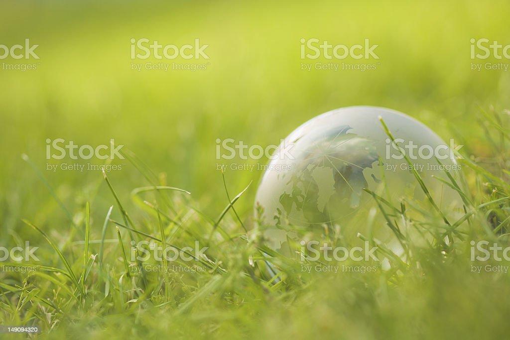 Eco globe stock photo