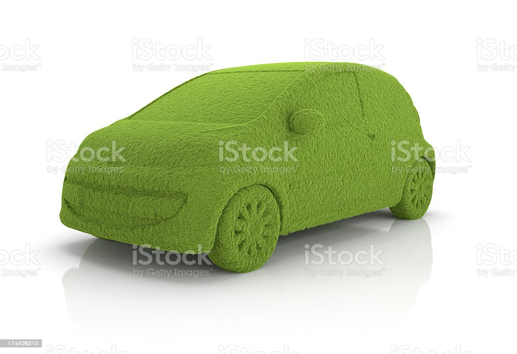 Eco grass car royalty-free stock photo