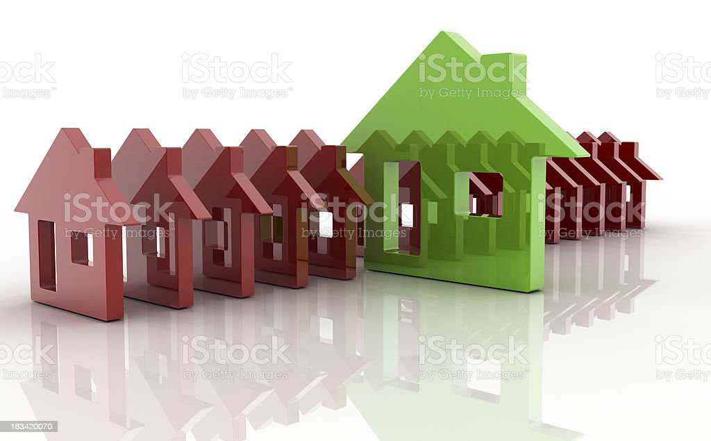 Eco house: a sustainable choice royalty-free stock photo