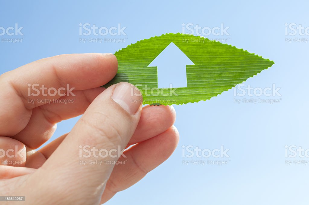Eco house concept royalty-free stock photo