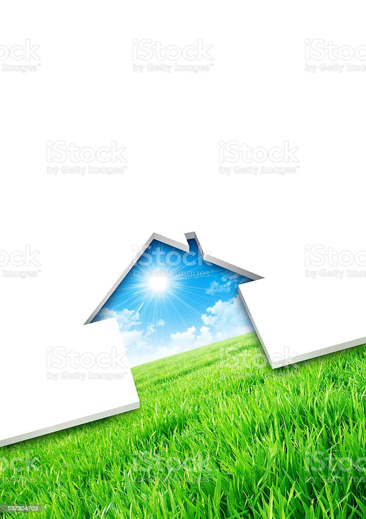Eco house concept stock photo
