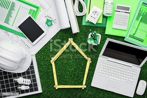 904490858 istock photo Eco house project 586933476