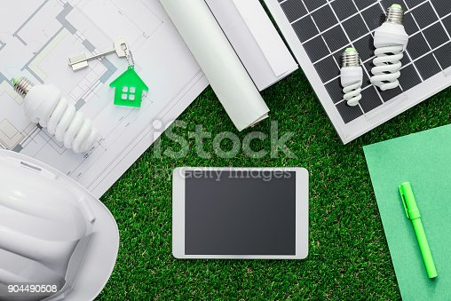 904490858 istock photo Eco house project 904490508