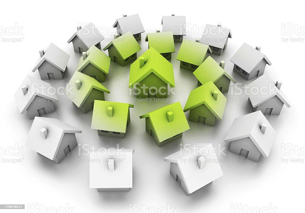 Eco houses royalty-free stock photo