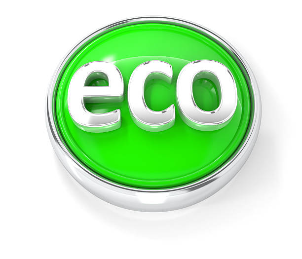 eco icon ECO icon. 3D rendered icon. antipollution stock pictures, royalty-free photos & images