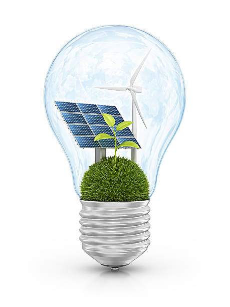 eco light bulb stock photo