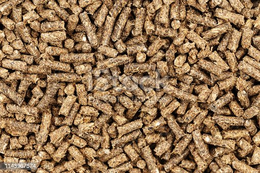eco pellets for the Fish or the buildup of fire in the boiler. place for text. clearly visible texture pellets