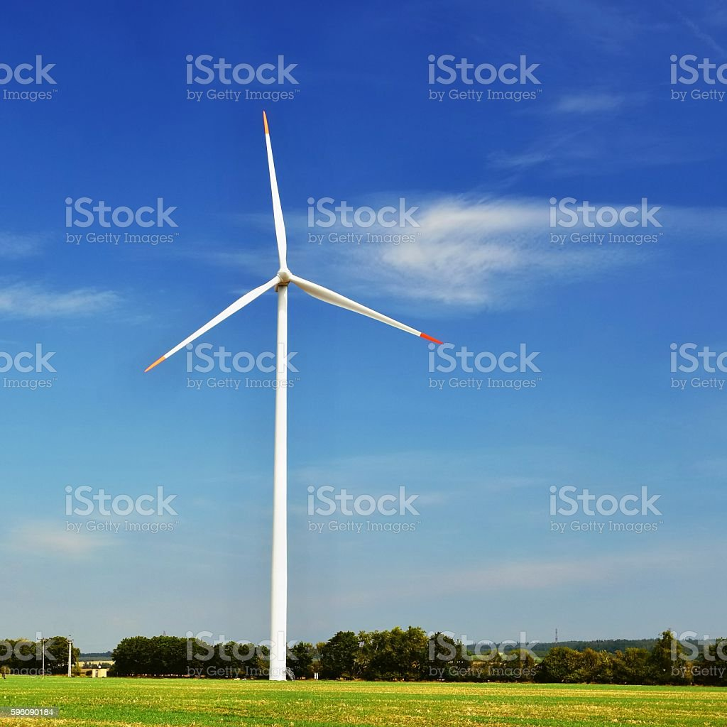 Eco power. Wind Turbine for alternative energy. royalty-free stock photo