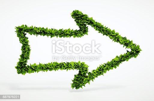 istock Eco right arrow icon 537975221