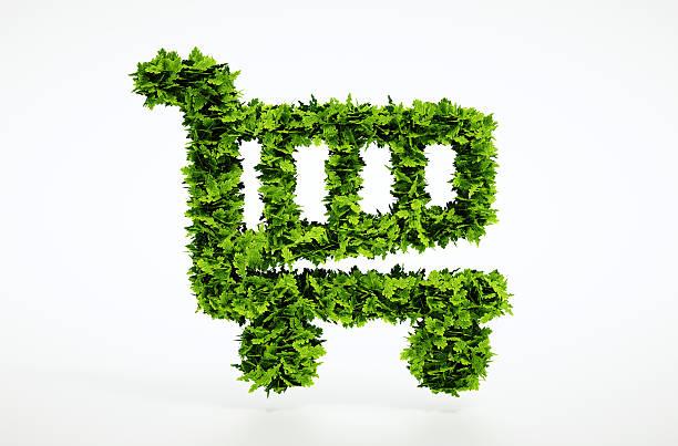 Di Eco carrello acquisti - foto stock