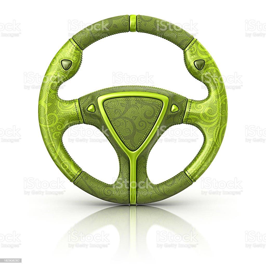eco steering wheel royalty-free stock photo