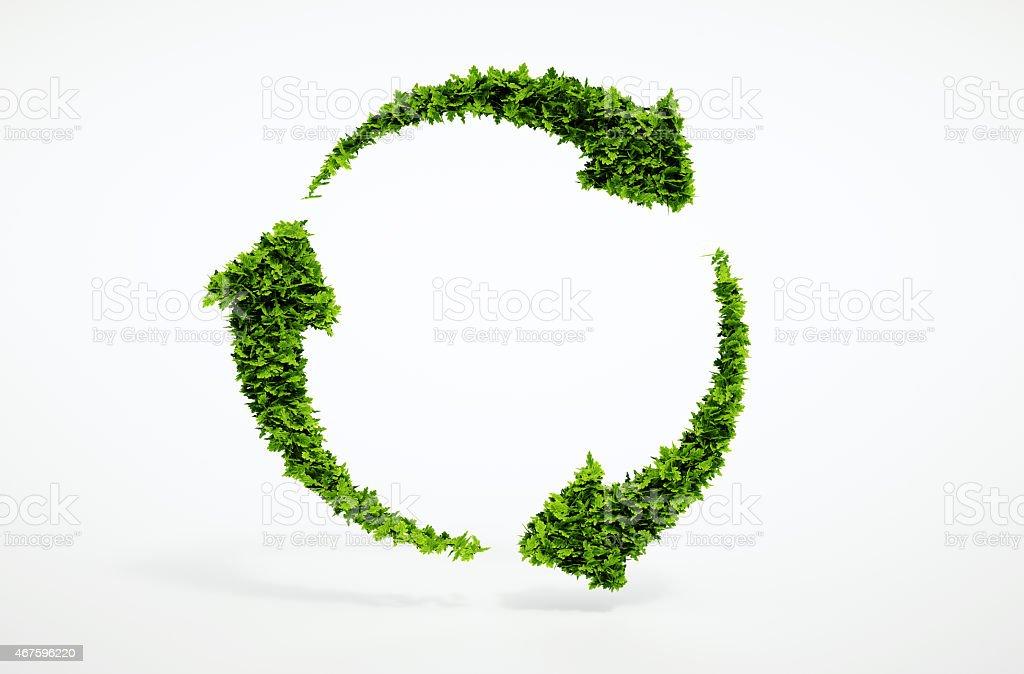 Umweltfreundliche und nachhaltige Entwicklung-Schild. – Foto