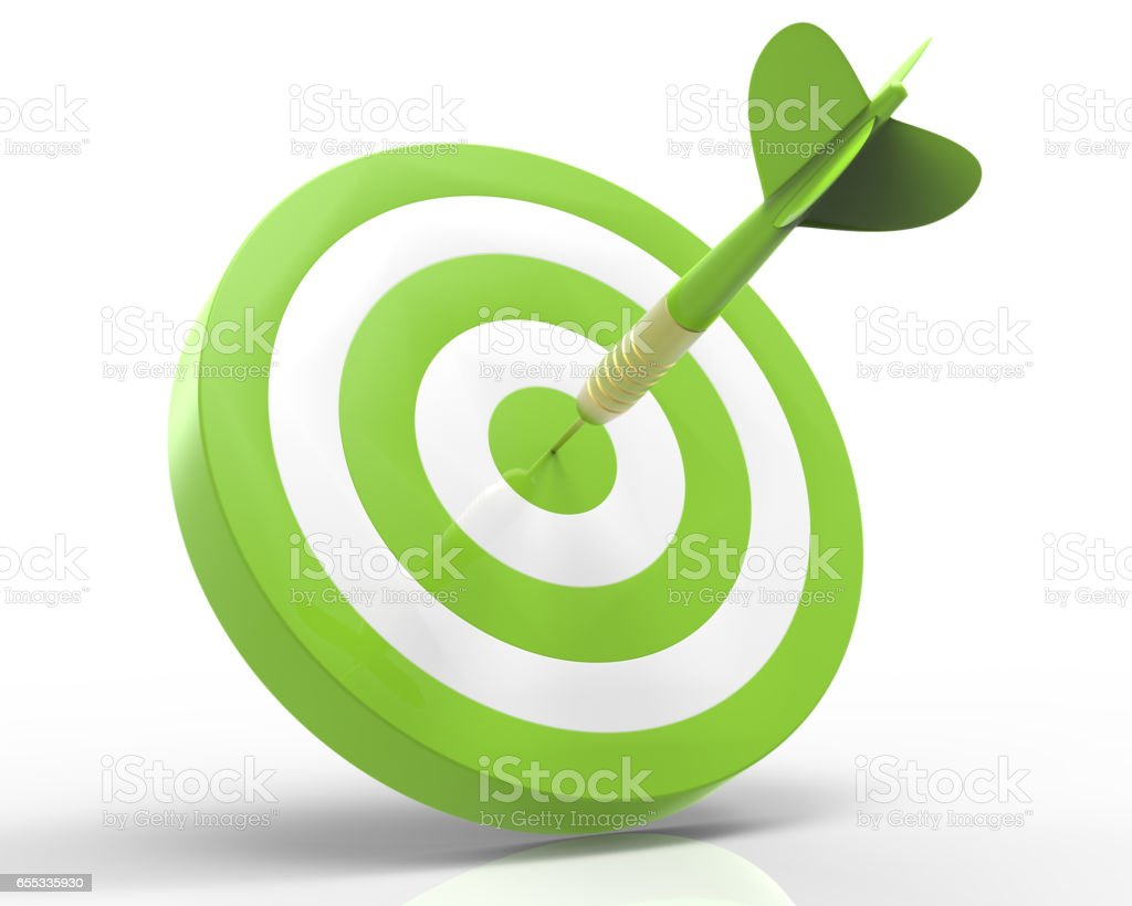 Eco target stock photo