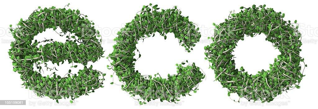 Eco text royalty-free stock photo