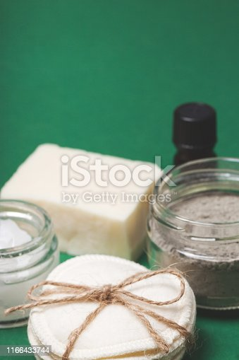 istock Eco-friendly body care items with copy space 1166433744