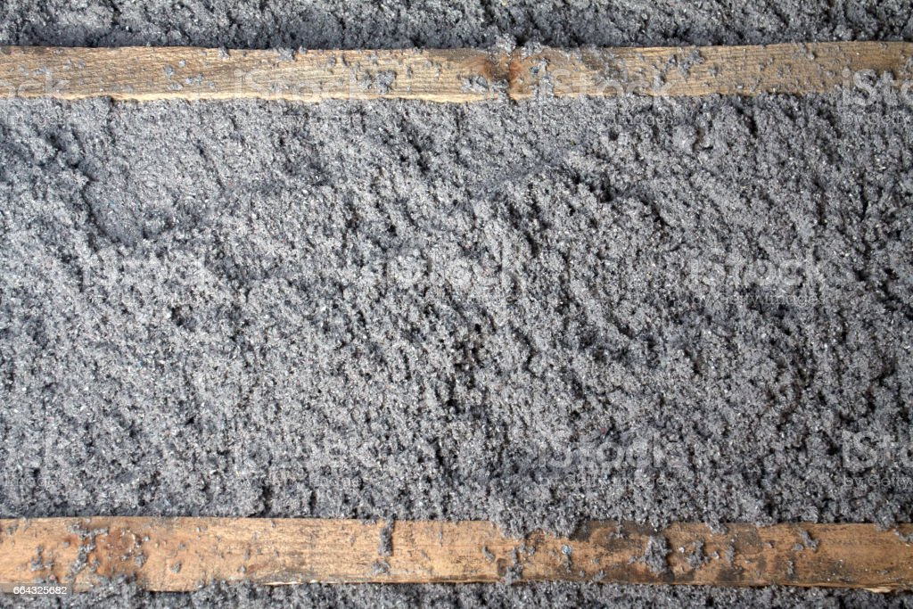 eco-friendly cellulose insulation made from recycled paper stock photo