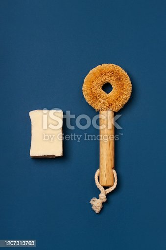 1169442288 istock photo Eco-friendly cleaning kit on the blue background 1207313763
