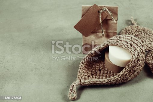 1168256931 istock photo Eco-friendly cleaning kit Organic soap jute washcloth. Zero waste, plastic-free 1186178503