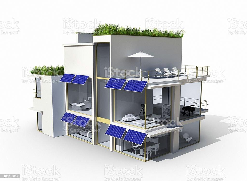 Eco-Friendly House royalty-free stock photo