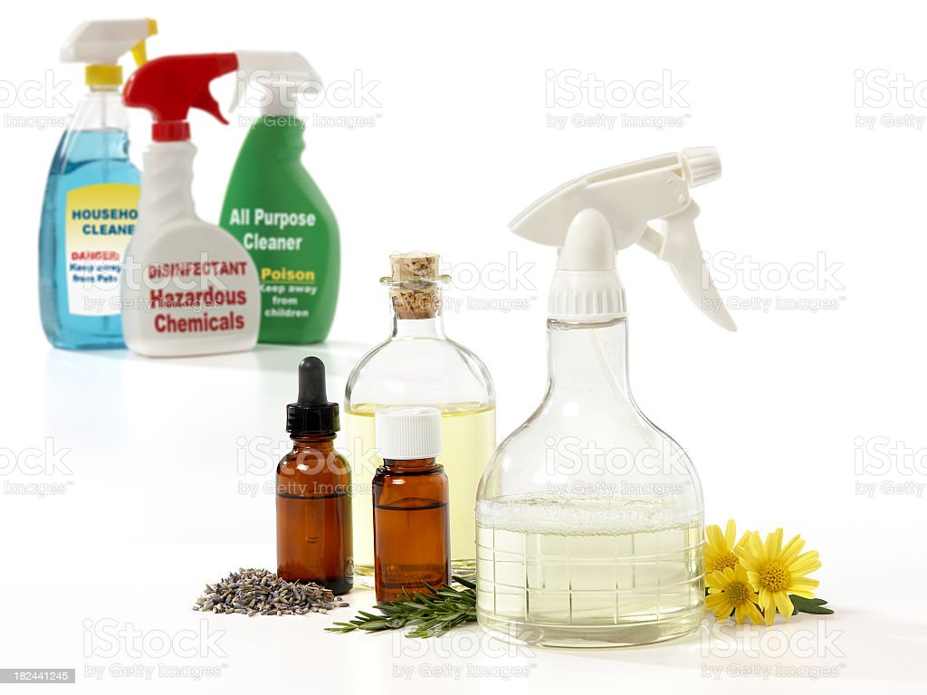 Eco-Friendly Household Cleaners royalty-free stock photo