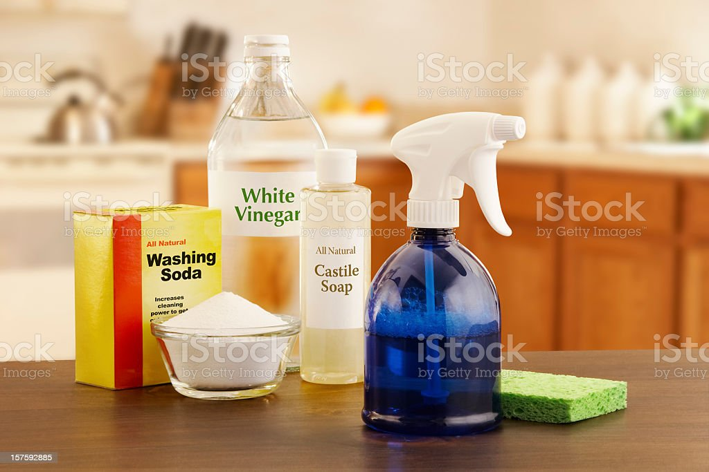 Eco-Friendly Kitchen Cleaner stock photo