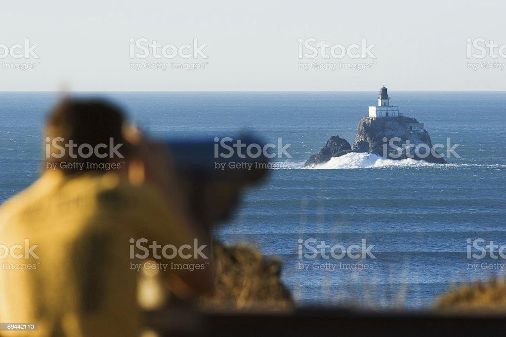 Ecola Lighthouse, Oregon royalty-free stock photo