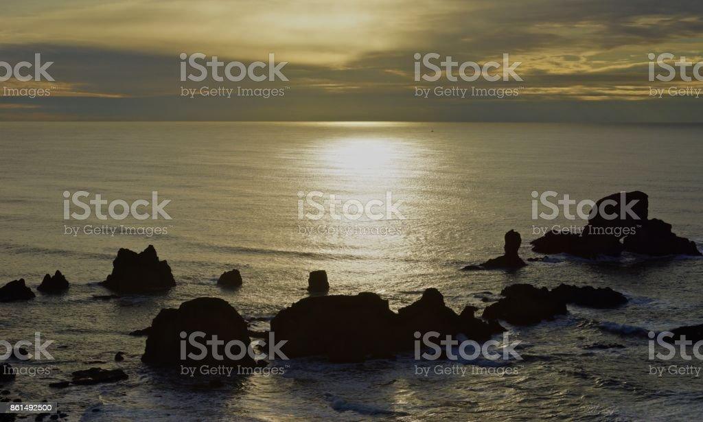 Ecola State Park Light stock photo